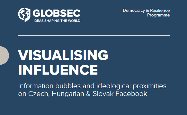 Visualising influence: Information bubbles and ideological proximities on Czech, Hungarian & Slovak Facebook