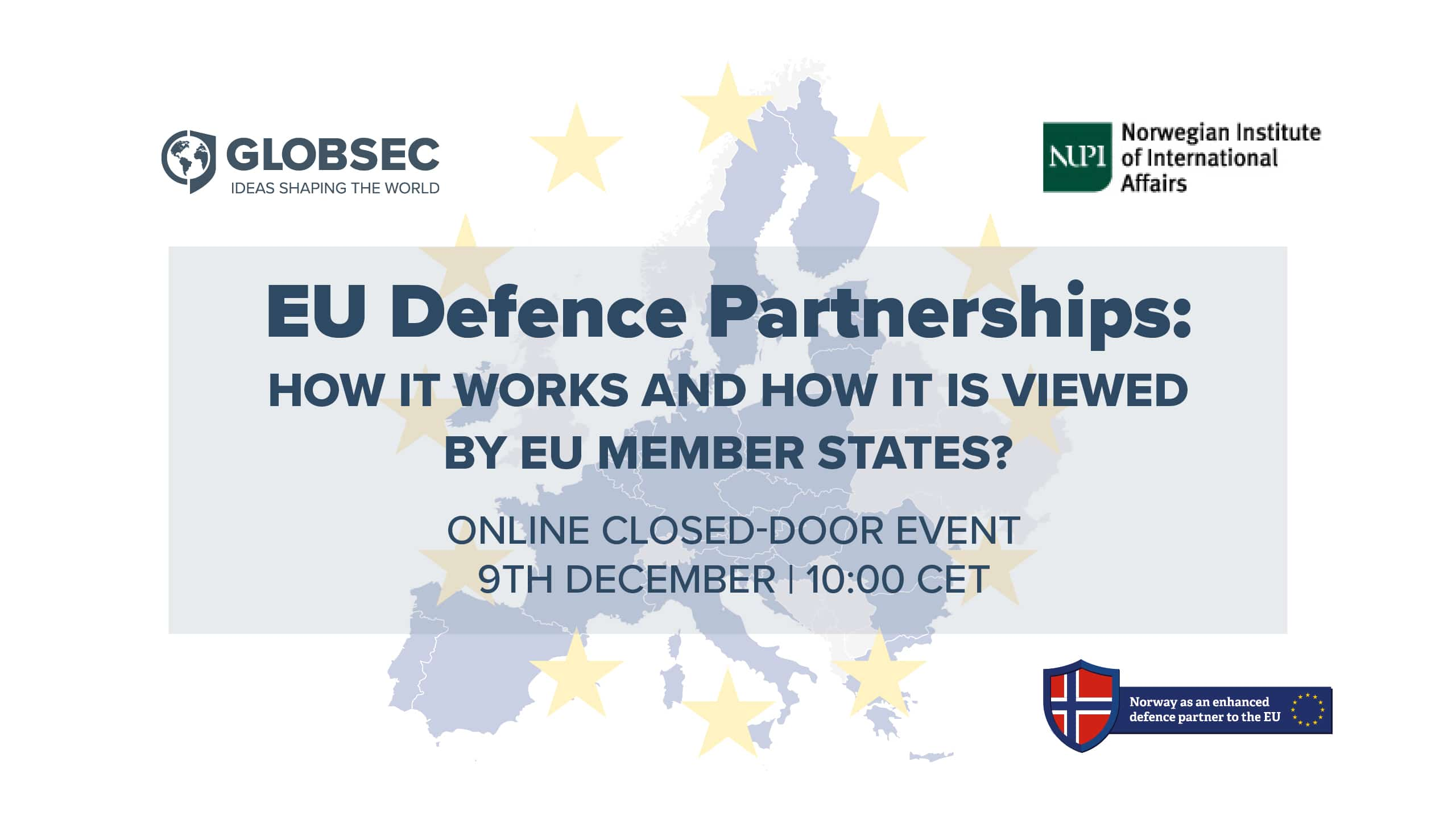 09.12.2020 - EU Defence Partnerships: How it works and how it is viewed by EU member states?