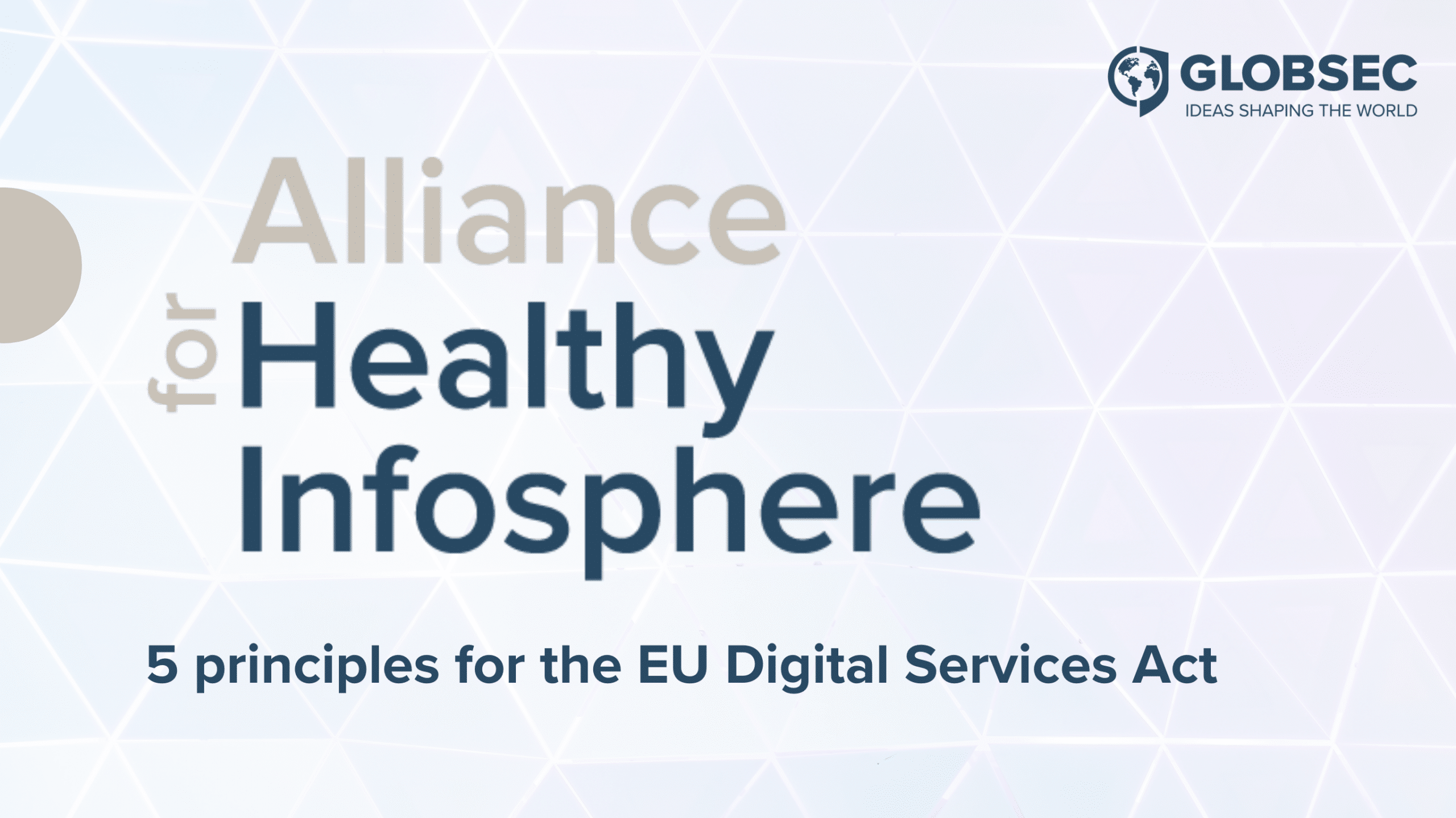 5 Principles for the EU Digital Services Act