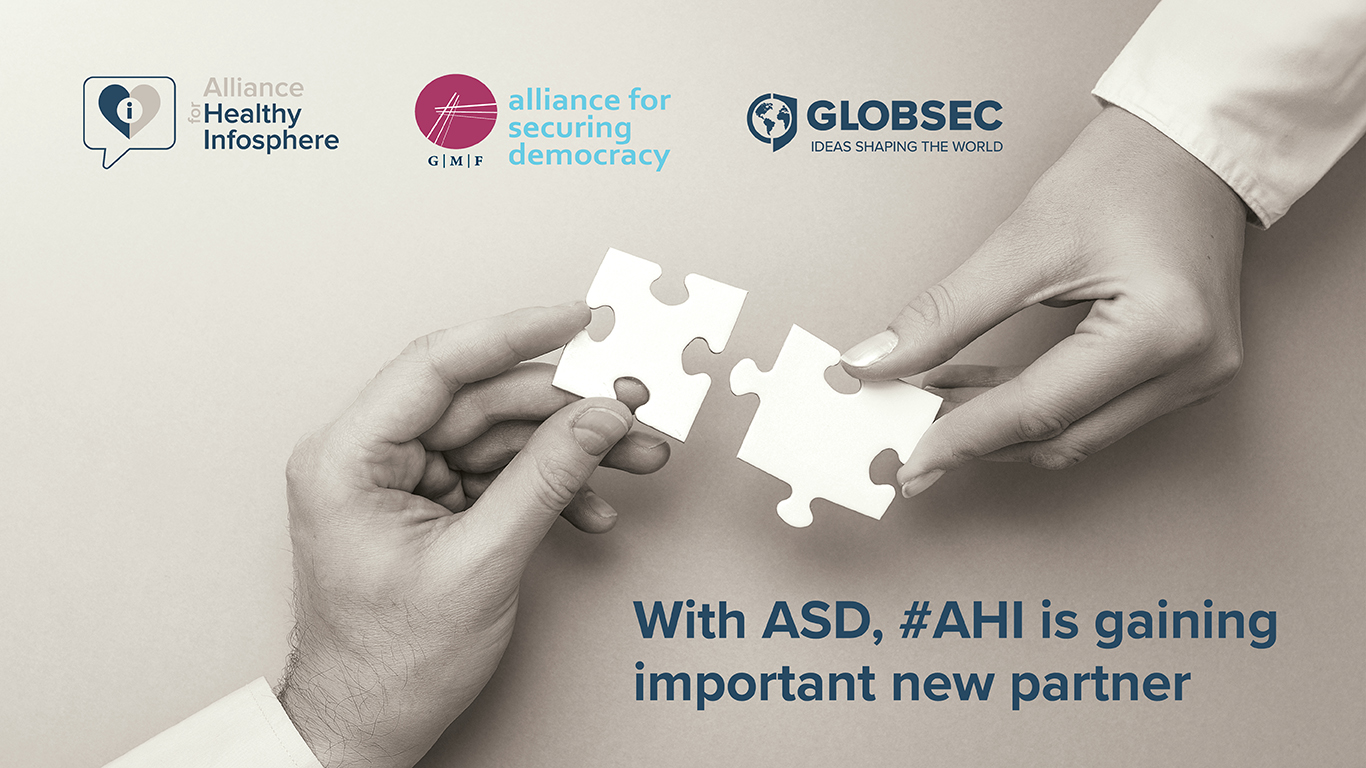 GLOBSEC is proud to announce partnership with Alliance for Securing Democracy in the Alliance for Healthy Infosphere